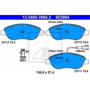 ATE 13.0460-3984.2 Комплект тормозных колодок, дисковый тормоз Фиат