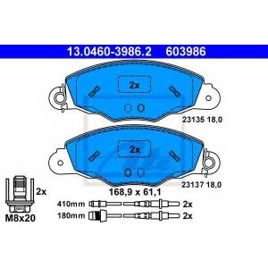 ATE 13.0460-3986.2 Комплект тормозных колодок, дисковый тормоз Ситроен Хм