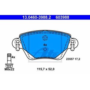 ATE 13.0460-3988.2 Комплект тормозных колодок, дисковый тормоз Ягуар Икс Тайп