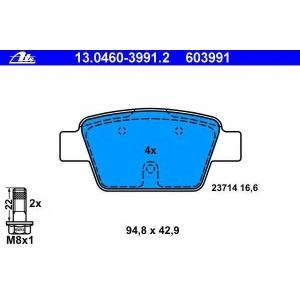 ATE 13.0460-3991.2 Комплект тормозных колодок, дисковый тормоз Фиат
