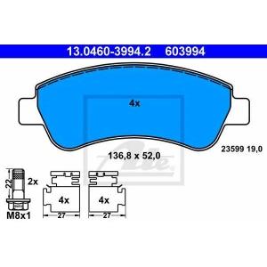 ATE 13.0460-3994.2 Комплект тормозных колодок, дисковый тормоз Ситроен С Элизи