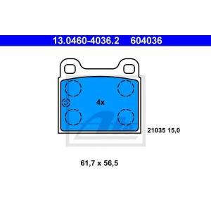 ATE 13.0460-4036.2 Комплект тормозных колодок, дисковый тормоз Мерседес Сл