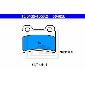 ATE 13046040582 Колодки гальмівні дискові, комплект