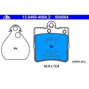 ATE 13.0460-4064.2 Комплект тормозных колодок, дисковый тормоз Крайслер Кроссфайр