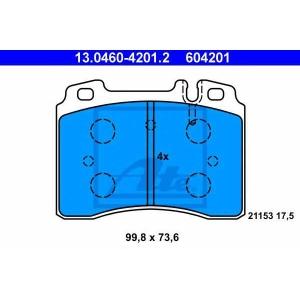 ATE 13.0460-4201.2 Комплект тормозных колодок, дисковый тормоз Мерседес Кабриолет