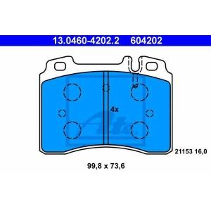 ATE 13046042022 Комплект тормозных колодок, дисковый тормоз