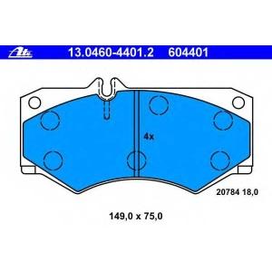 ATE 13.0460-4401.2 Комплект тормозных колодок, дисковый тормоз Мерседес