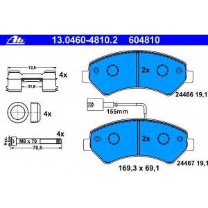 ATE 13046048102 Комплект тормозных колодок, дисковый тормоз