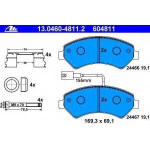 ATE 13046048112 Комплект тормозных колодок, дисковый тормоз