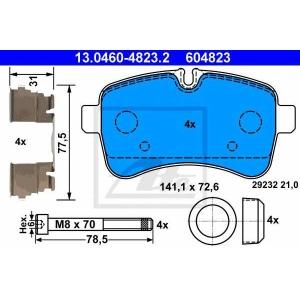 ATE 13046048232 Комплект тормозных колодок, дисковый тормоз