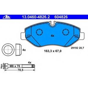 Комплект тормозных колодок, дисковый тормоз 13046048262 ate - MERCEDES-BENZ SPRINTER 3,5-t автобус (906) автобус 318 CDI (906.731, 906.733, 906.735)