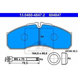 ATE 13046048472 Комплект тормозных колодок, дисковый тормоз