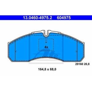 ATE 13046049752 Комплект тормозных колодок, дисковый тормоз