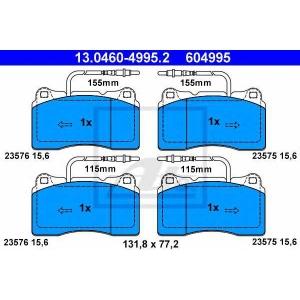 ATE 13.0460-4995.2 Комплект тормозных колодок, дисковый тормоз Ситроен C8