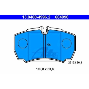 ATE 13046049962 Комплект тормозных колодок, дисковый тормоз