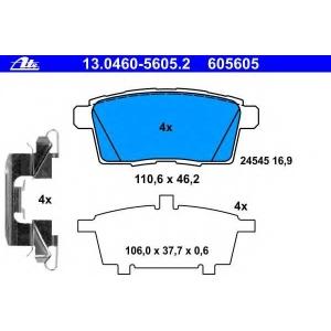 ATE 13.0460-5605.2 Комплект тормозных колодок, дисковый тормоз Мазда Ц-Икс 9