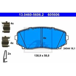ATE 13.0460-5606.2 Комплект тормозных колодок, дисковый тормоз Мазда Ц-Икс 9