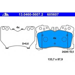 ATE 13.0460-5607.2 Комплект тормозных колодок, дисковый тормоз Лексус Лс