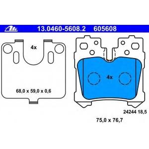 ATE 13.0460-5608.2 Комплект тормозных колодок, дисковый тормоз Лексус Лс