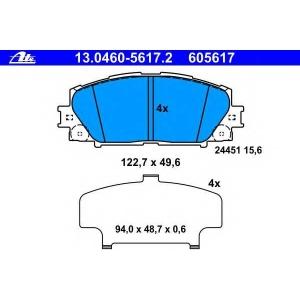 ATE 13.0460-5617.2 Комплект тормозных колодок, дисковый тормоз Лексус Ст