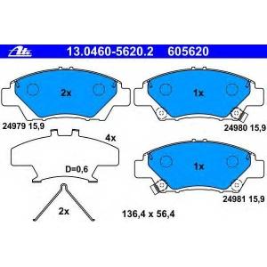 ATE 13.0460-5620.2 Комплект тормозных колодок, дисковый тормоз Хонда Джаз