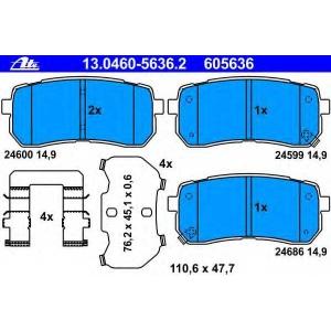ATE 13.0460-5636.2 Комплект тормозных колодок, дисковый тормоз Хюндай Айикс 55