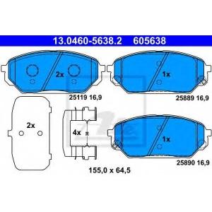 ATE 13.0460-5638.2 Комплект тормозных колодок, дисковый тормоз Хюндай Айикс 55