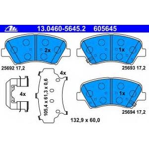 ATE 13.0460-5645.2 Комплект тормозных колодок, дисковый тормоз Киа Сид Спорт