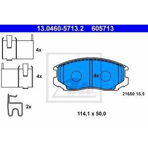 ATE 13.0460-5713.2 Комплект тормозных колодок, дисковый тормоз Дайхатсу Териос