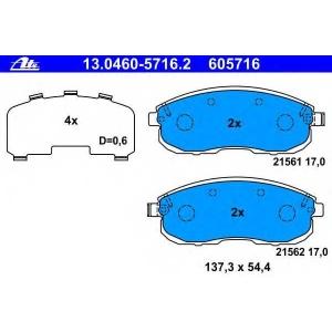 ATE 13.0460-5716.2 Комплект тормозных колодок, дисковый тормоз Рено Латитуде