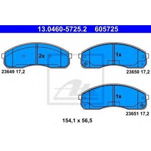 ATE 13.0460-5725.2 Комплект тормозных колодок, дисковый тормоз Киа Карнивал