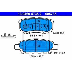 ATE 13.0460-5735.2 Комплект тормозных колодок, дисковый тормоз Джип Патриот