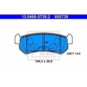 ATE 13.0460-5739.2 Комплект тормозных колодок, дисковый тормоз Дэу Лацетти