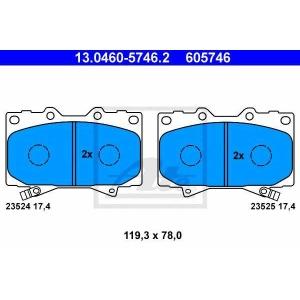 ATE 13.0460-5746.2 Комплект тормозных колодок, дисковый тормоз Лексус Л-Икс