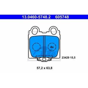 ATE 13.0460-5748.2 Комплект тормозных колодок, дисковый тормоз Лексус Айс Спорткросс