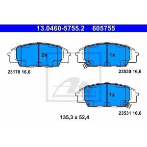 ATE 13.0460-5755.2 Комплект тормозных колодок, дисковый тормоз Хонда С2000
