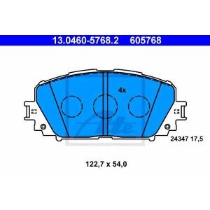 ATE 13046057682 Комплект тормозных колодок, дисковый тормоз