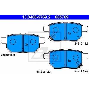 ATE 13.0460-5769.2 Комплект тормозных колодок, дисковый тормоз Лексус Ст
