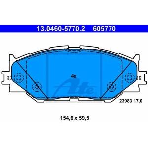 ATE 13.0460-5770.2 Комплект тормозных колодок, дисковый тормоз Лексус Айс-Ес