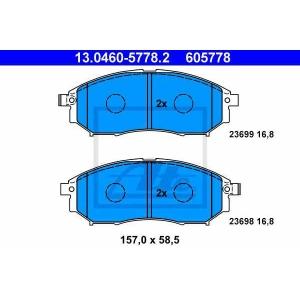 ATE 13.0460-5778.2 Комплект тормозных колодок, дисковый тормоз Рено Колеос