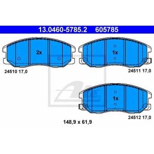 ATE 13.0460-5785.2 Комплект тормозных колодок, дисковый тормоз Шевроле Каптива