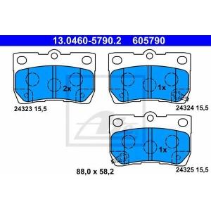 ATE 13.0460-5790.2 Комплект тормозных колодок, дисковый тормоз Лексус Айс-Ес