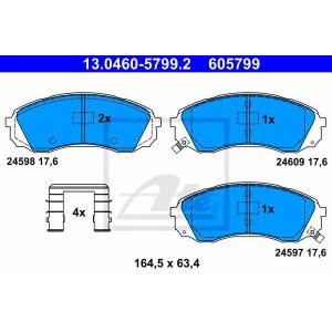 ATE 13.0460-5799.2 Комплект тормозных колодок, дисковый тормоз Хюндай Н1 Карго