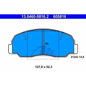 ATE 13.0460-5816.2 Комплект тормозных колодок, дисковый тормоз Дайхатсу