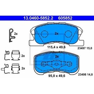 ATE 13.0460-5852.2 Комплект тормозных колодок, дисковый тормоз Дайхатсу Сирион
