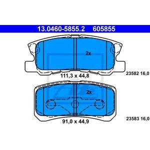 ATE 13.0460-5855.2 Комплект тормозных колодок, дисковый тормоз Джип Патриот