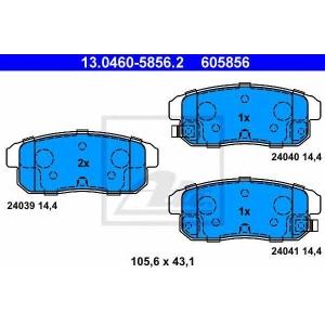ATE 13.0460-5856.2 Комплект тормозных колодок, дисковый тормоз Мазда Р-Икс 8