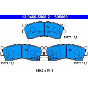 ATE 13.0460-5868.2 Комплект тормозных колодок, дисковый тормоз Киа Кларус