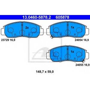 ATE 13.0460-5878.2 Комплект тормозных колодок, дисковый тормоз Хонда Фрв