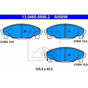 ATE 13.0460-5898.2 Комплект тормозных колодок, дисковый тормоз Дайхатсу